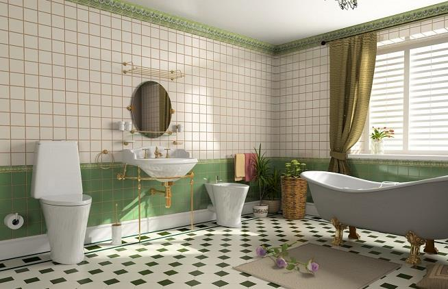 Пол в ванной