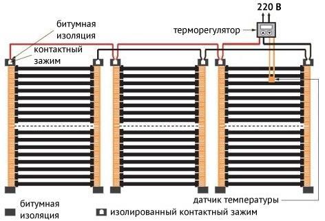 Схема подключения термопленки Caleo