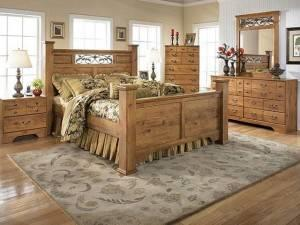 Спальня по деревенски