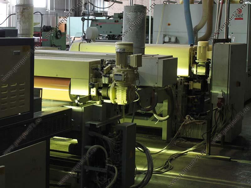 Обработка деревянных заготовок, УФ-отверждение