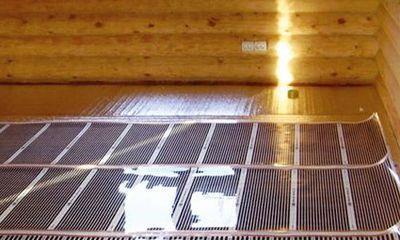 инфракрасный теплый пол в деревянном доме