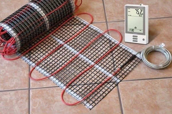 Электрический греющий мат с терморегулятором