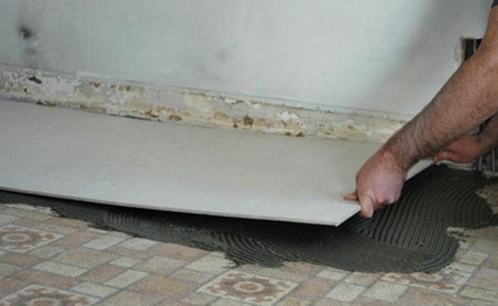 Укладка цсп плиты на пол на клей