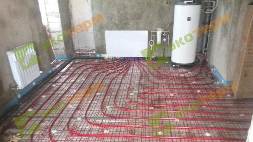 бойлер косвенного нагрева Drazice OKC 160 NTR и водяной теплый пол фото