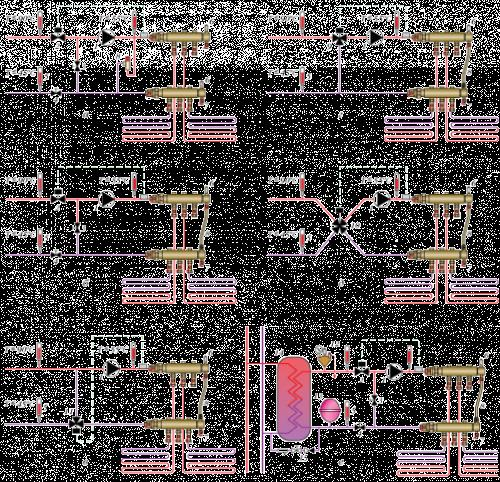 Схемы установки смесительных узлов