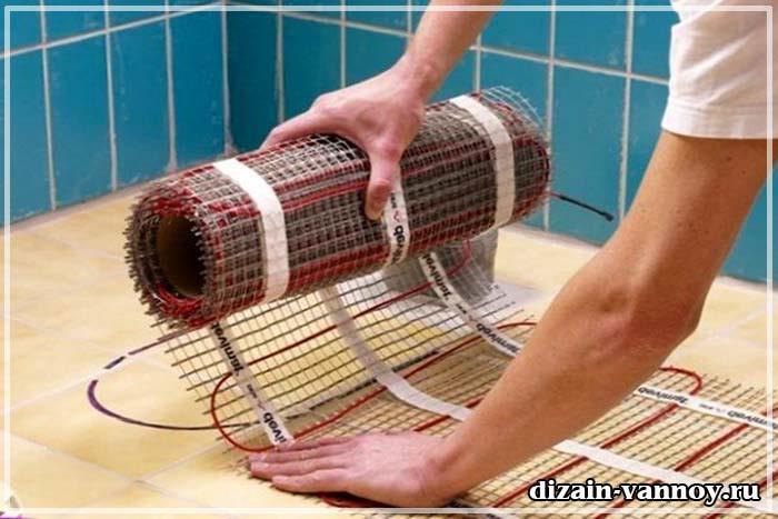 устройство теплого пола в ванной