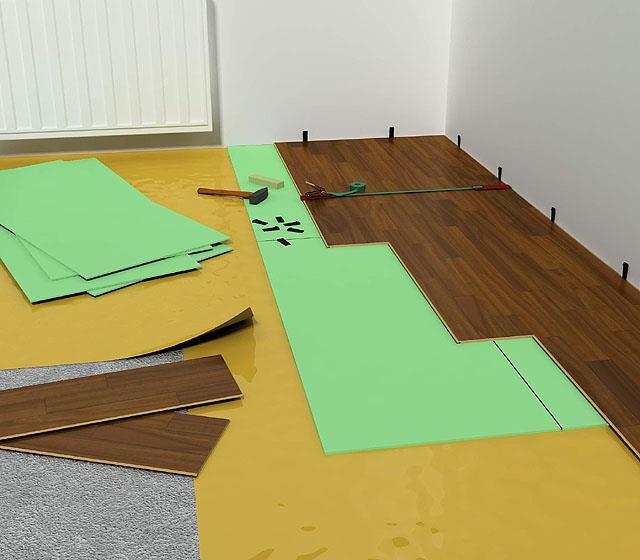 Подготовка поверхности и настил подложки под ламинат