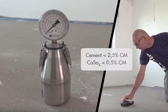 Укладывать ламинат на бетонный пол с высокой остаточной влажностью нельзя. Поэтому после устройства бетонных полов или стяжки их необходимо хорошо просушить, тщательно проветривая помещение.