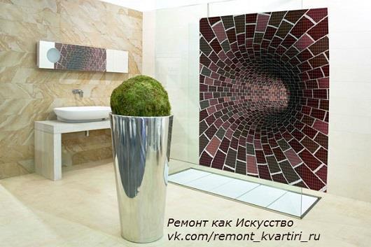 прямоугольная плитка мозаика для ванной комнаты