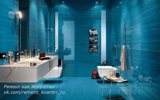 однотонная голубая глянцевая керамическая плитка для ванной комнаты