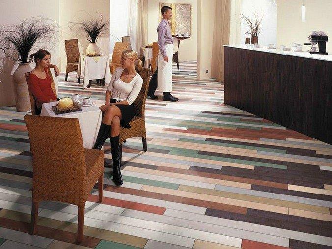 Цветные полы для кафе