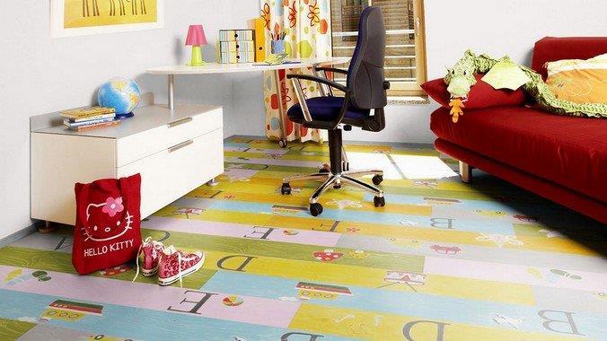 Цветные ламинированные панели для детской комнаты