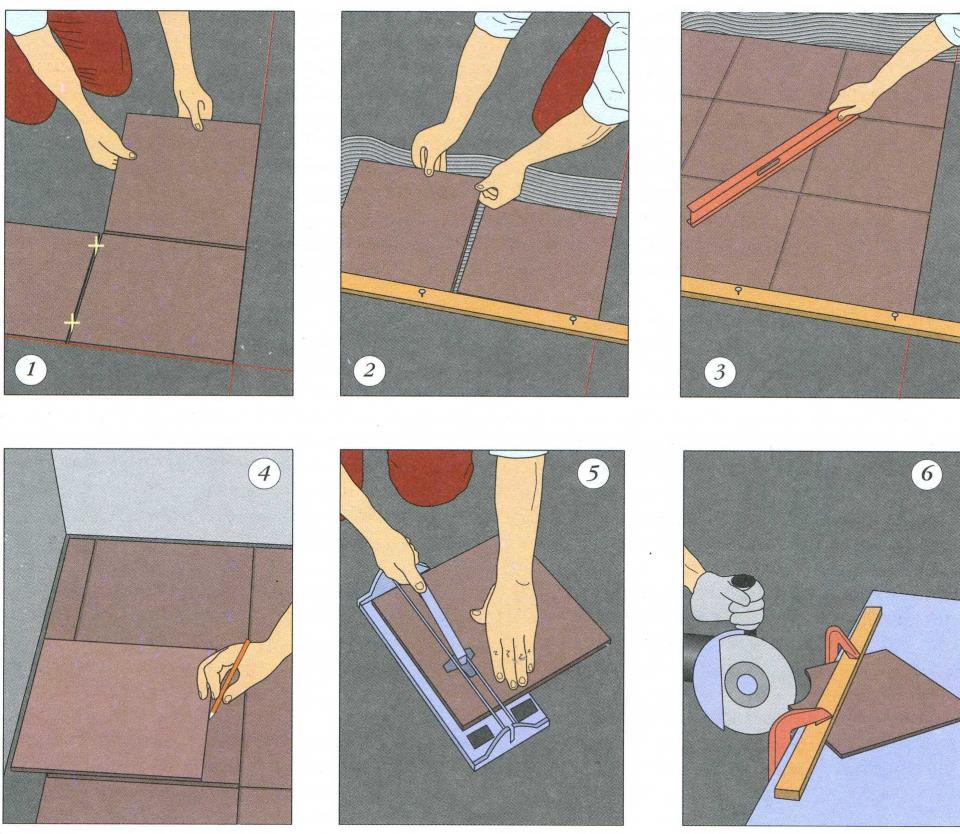 Технологические особенности при укладке керамической плитки