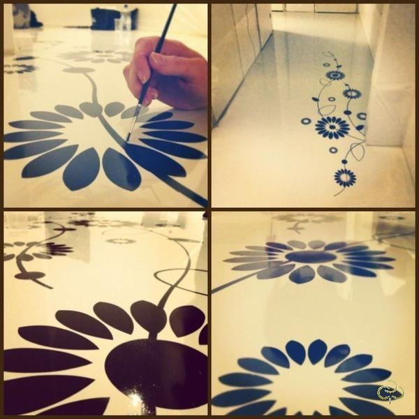После выбора рисунка или изображения, который будет отображен на полу