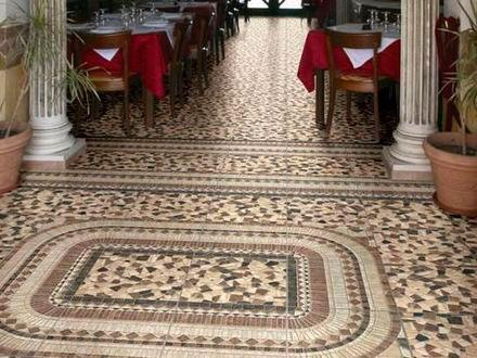 плитка на пол мозаика