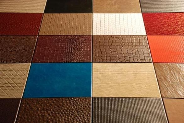 Кожаная плитка – разнообразие фактур
