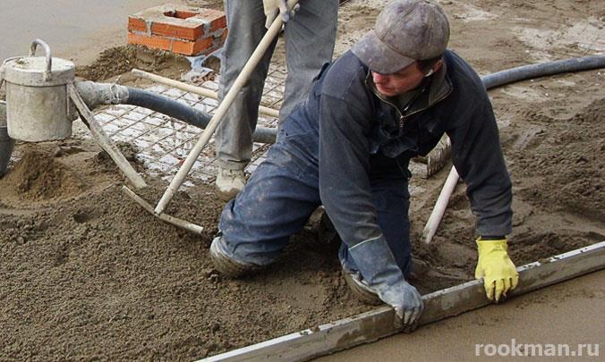 Устройство бетонной стяжки профессионалами