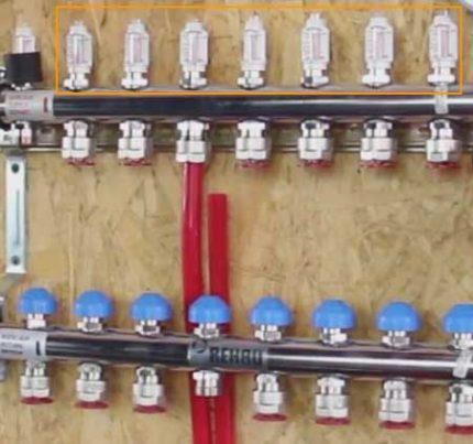 Расходомеры и сервоприводы коллектора