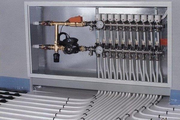 Смесительный узел с вентилем с сервопроиводом