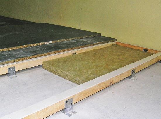 В качестве элемента регулирования могут применяться стальные уголки.