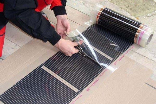 Раскрой инфракрасной системы на полотнища перед укладкой