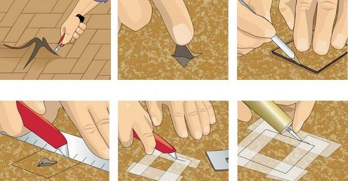 Как стелить линолеум на линолеум фото