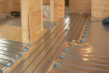 Монтаж теплых полов на деревянный пол