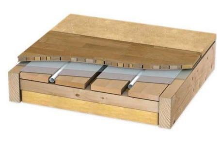 Укладка теплого деревянного пола