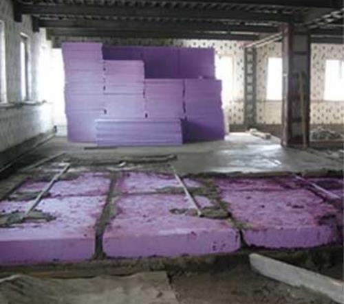 Теплоизоляция бетонного пола по грунту