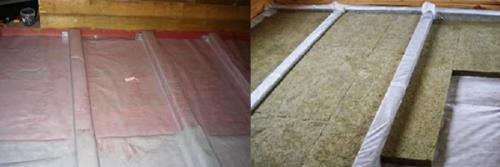 Гидро и теплоизоляция деревянного пола по грунту