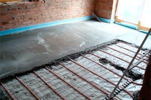 Устройство бетонной стяжки над ТП