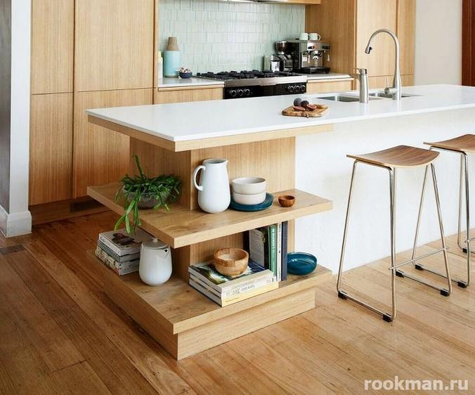 Фото ламинированного напольного покрытия на кухне