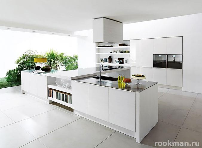 Фото светлой плитки на кухне