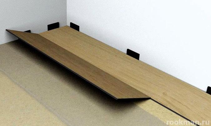 Не забывайте про компенсационный зазор между стенами и ламинатом