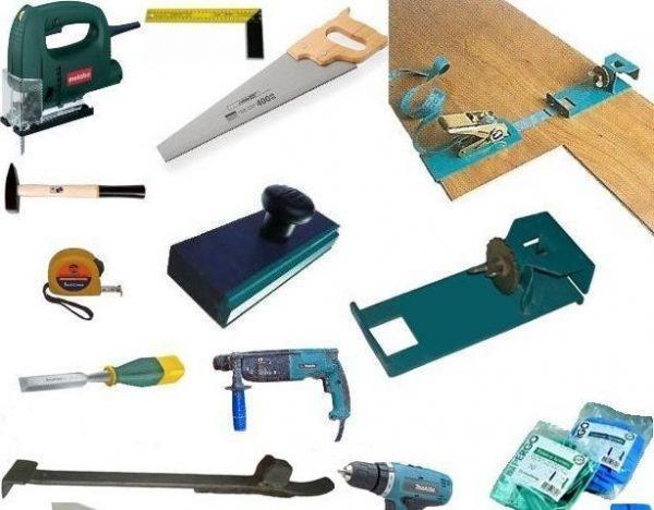 Полный набор инструментов для укладки ламината