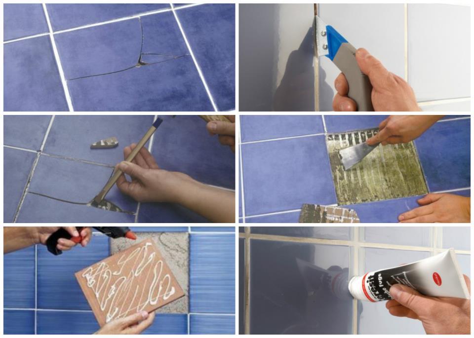 Замена одной плитки на стене