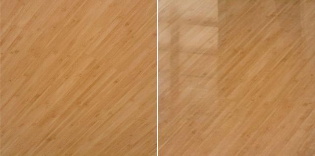 Вид ламината разной фактуры, при разном освещении