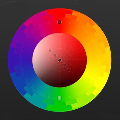Правило выбора цвета №5. Хроматический круг. RGB круг