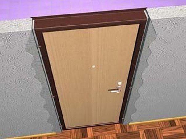 цвет двери, наличников, плинтуса и ламината
