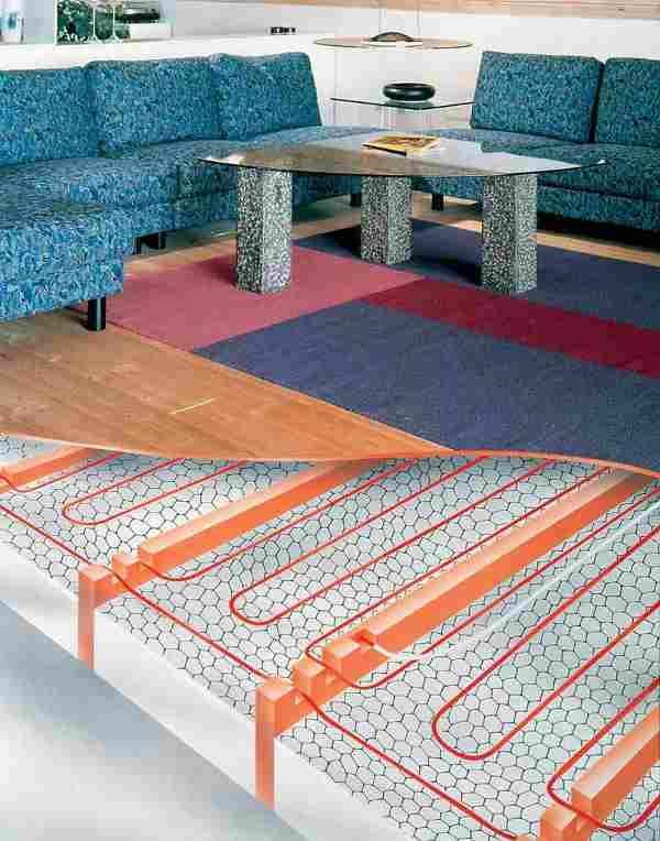 Теплый пол с установкой под паркет на лагах