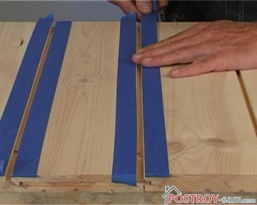 Защита кромок монтажной лентой