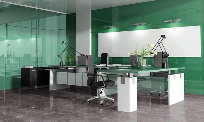 Фото ламината от компании Kronotex в интерьере современного офиса