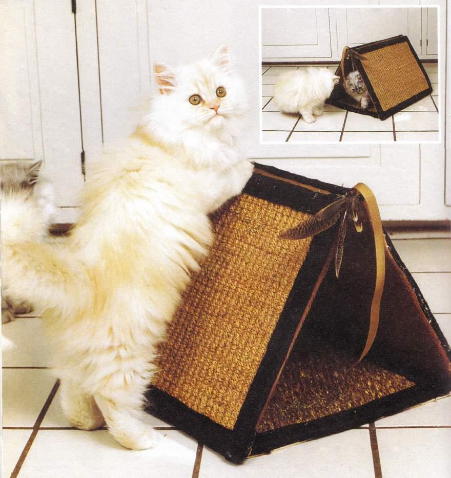 Из чего должен быть сделан домик для кошки?