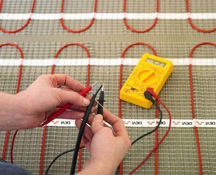 Проверка работоспособности электрической системы