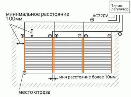 Схема монтажа и/к пленки