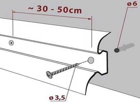 Как положить плинтус на линолеум: способы укладки