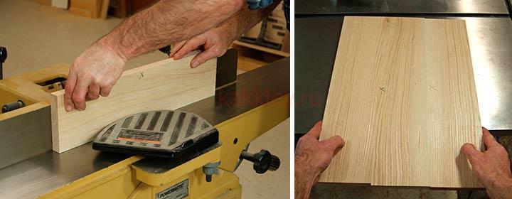 Как склеить бруски в щит для мебели