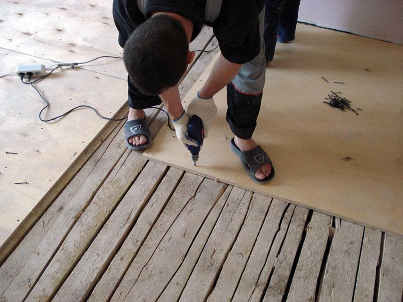 Крепление фанеры на деревянное основание