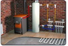 газовый котел и водяной тёплый пол