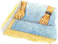 ТТК. Укладка линолеума без изгиба на стену